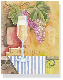 Champage illustration couresy Wine and Cuisine