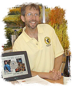 Bill Russell,the cheerful winemaking co-owner of Westport River Winery