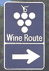Wine Route sign